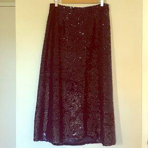 Just Female Long Sequin Dark Sapphire Jones Skirt